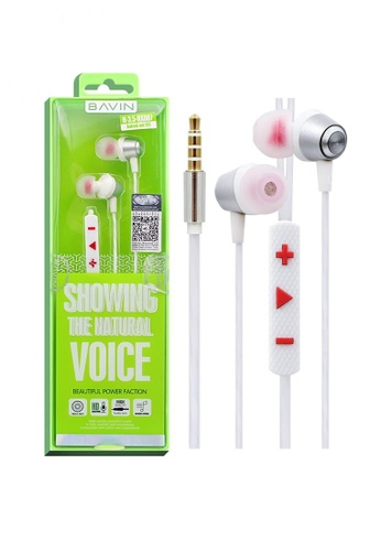 BAVIN white Stereo Earphone for Android and Iphone 420FBAC8A07109GS_1