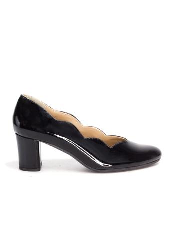 Shu Talk black Elegant Scalloped Patent Leather Heels 4C9B5SH6D54EA9GS_1