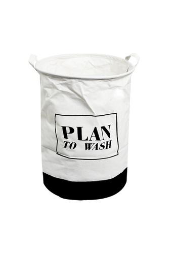 HOUZE HOUZE - Laundry Bag (Large) - Plan To Wash A0C23HLE53E1FEGS_1