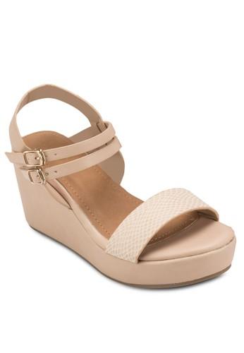 Avenue 壓紋繞踝楔型鞋esprit 澳門, 女鞋, 鞋