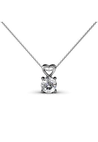 Her Jewellery silver Swarovski® Crystals - Sweet Love Pendant (18K White Gold Plated) Her Jewellery HE581AC0RAFKMY_1