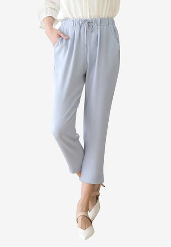 Tokichoi blue Textured Drawstring Pants 445EDAAF7ADE86GS_1