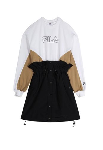 FILA white FILA x SNIDEL FILA Logo Long Sleeves Dress D3CEBAA2147246GS_1