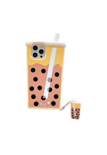 Kings Collection brown Bubble Tea iPhone 12 Pro / 12 Case (KCMCL2393) AFF59AC6C11BB9GS_1