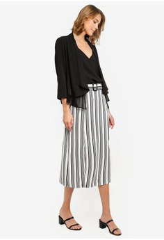 eb6b60000c Wallis Petite Monochrome Striped Skirt RM 229.00. Sizes 8 10 12 14 16