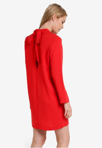 TOPSHOP red Bow Back Blazer Dress TO412AA61JWKMY_1
