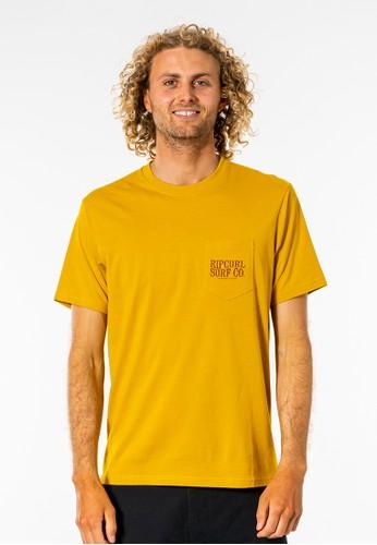 Rip Curl yellow Made For Pocket Tee - Mustard BDBB8AA5AA8CA7GS_1