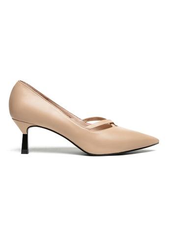 Byford beige Ruth Pointed Toe Heels 135B5SH69CD0FFGS_1