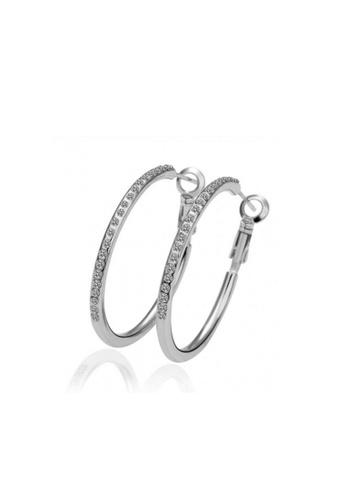 Sopistikada silver Angelina 18K White Gold Plated Earrings SO776AC35HGUPH_1