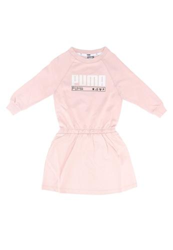 PUMA pink Alpha Long Sleeve Girls' Dress 04645KA8B5AC68GS_1