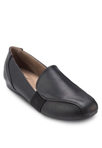拼接彈性帶樂福鞋, 女鞋,zalora開箱 鞋