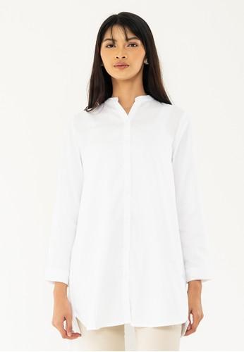 GEELA white Aileen Shirt D70D3AACF4EEBCGS_1