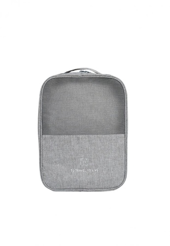 Fashion by Latest Gadget grey To Travel To Live Shoe Bag with 3 Pockets EE8A2AC9DCDA2FGS_1