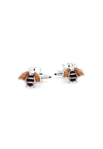 Red Stag And Hind yellow Red Stag And Hind Rhodium Bumble Bee Cufflinks 5F909AC01E83E3GS_1