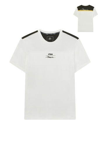 FILA white FILA x 3.1 Phillip Lim Logo Color Blocks Cotton T-shirt 38042AAB72D2B0GS_1