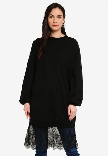 LC Waikiki black Lacy Cotton Sweatshirt 464D4AADC7F544GS_1