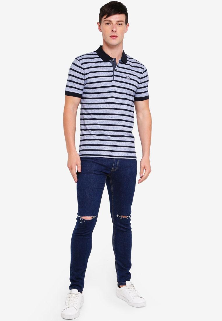 Shirt Navy Polo Volkswagen Stripe Blue U486POqMgw