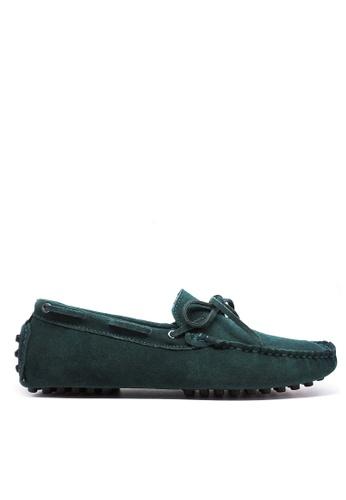 Twenty Eight Shoes 綠色 真牛猄皮休閒帆船鞋MC025 6A6B3SH1ECA808GS_1