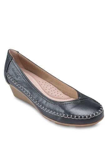 Glynn esprit 京站2 經典圓頭低楔型鞋, 女鞋, 鞋