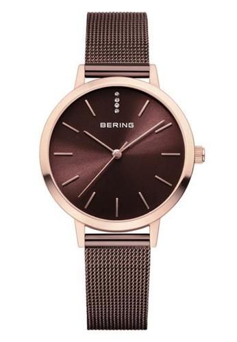 Bering brown Classic 13434-265 Brown 34 mm Women's Watch 9E1F3AC8626139GS_1