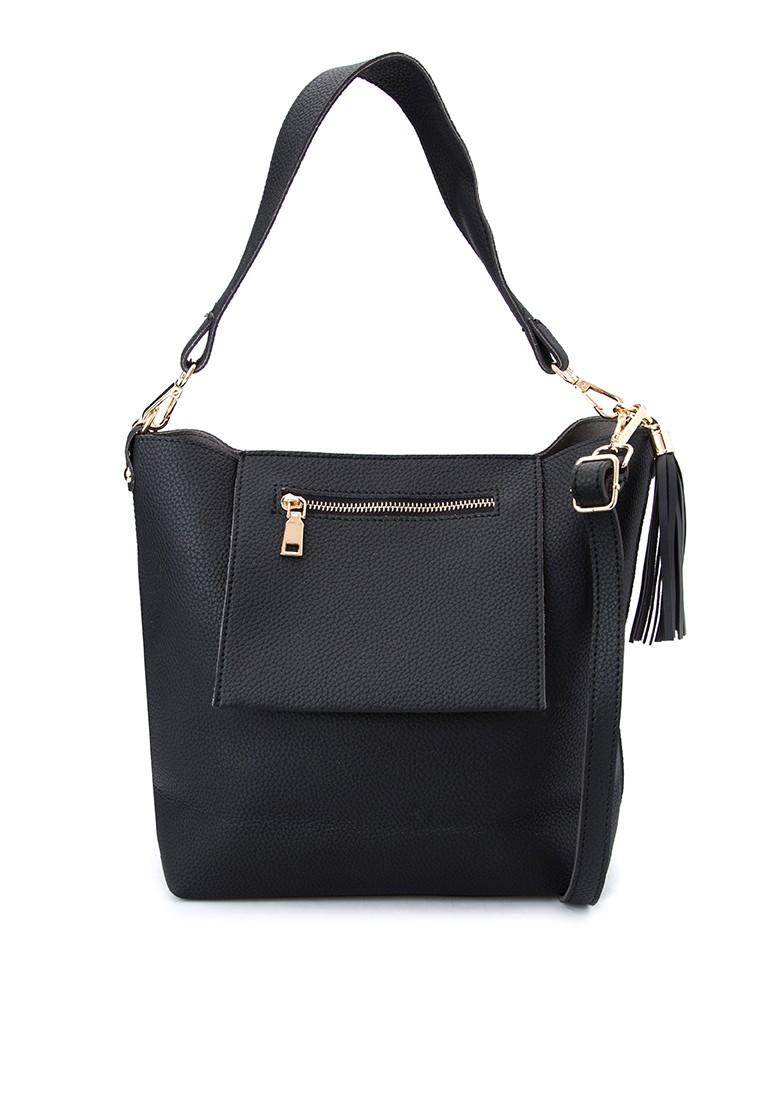 Inside Out Pocket Shoulder Bag