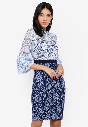 Paper Dolls blue Two Tone Dress 32B87AAB22F43EGS_1