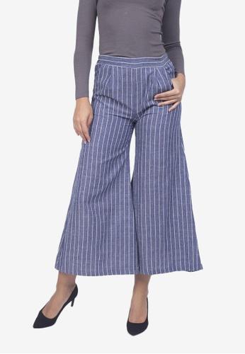 Caoros blue Stripe Chambray Pants A21A2AA4060EFDGS_1