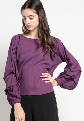 ECLAT APPAREL purple Minaka Blouse EC565AA94OZPID_1
