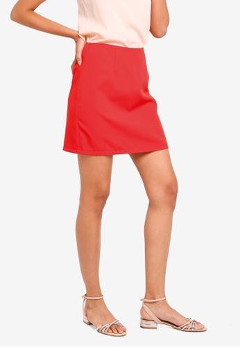 ZALORA BASICS red Basic Mini Checked Skirt 4F614AAC2A86B8GS_1