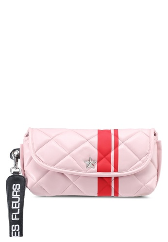 La Fille Des Fleurs pink Carla Quilted Pouch 6F6A0ACA18B216GS_1