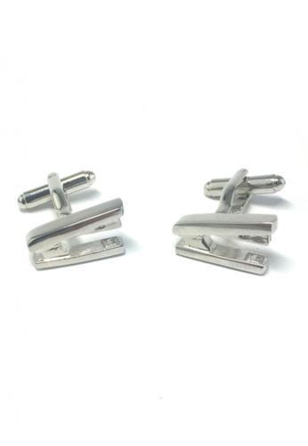 Splice Cufflinks silver Silver Staplers Cufflinks  SP744AC60EMPSG_1