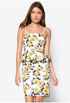 Collection Peplum Bandeau Dress