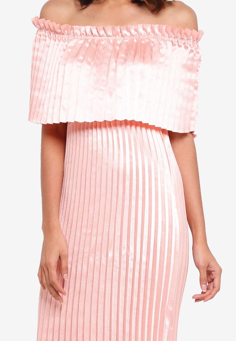 20582b740a ... Shoulder Peach Moda Dress Vero Midi Jasmine Melba Off U6BpqY5 ...