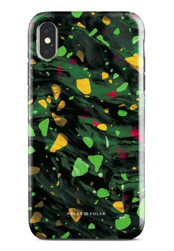 Polar Polar green Malachite Terrazzo Gem Dual-Layer Tough Case Glossy For iPhone XS Max BBDE9ACD25A6AFGS_1