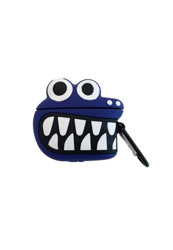 Kings Collection blue Blue Big Mouth Dinosaur AirPods Case (KCAC2104) 3478FACE6BD692GS_1