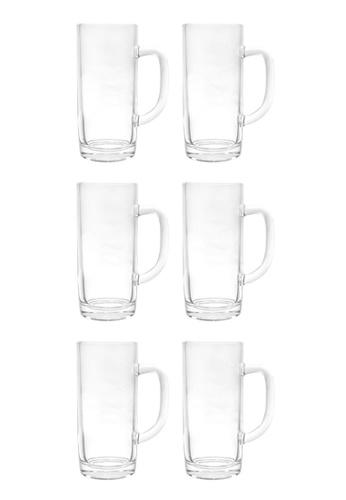 Union Glass n/a Thailand Premium Clear Glass Beer Mug Beer Lovers 400ml -13.5 oz Set of 6 41B8AHLAD59648GS_1