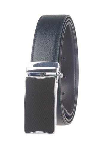 FANYU brown Men Full Grain Leather Belt Pin Buckle Black FA549AC65CMWSG_1