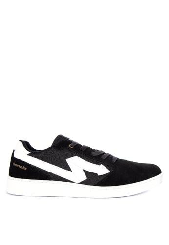 Sonnix black MAUL Q218 Men's Lace Up Sneaker Shoes 5B4EASHF13F225GS_1