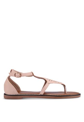 Mimosa beige Laser Cut Flat Sandals CA0D9SH0443401GS_1