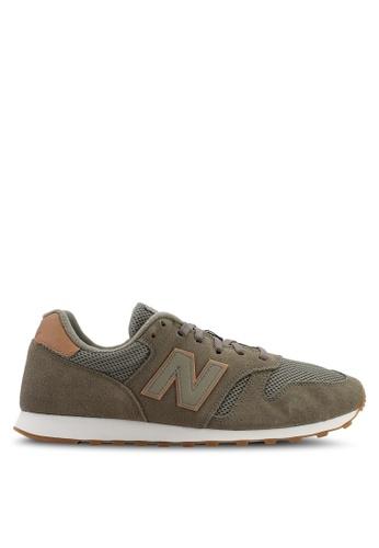 New Balance green 373 Lifestyle Shoes D34E6SH69ADFA4GS_1