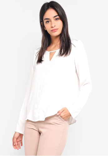 Vero Moda white Bella Boca Long Sleeve Top FE6B3AAF2058B6GS_1