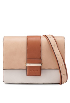 350c0d23583 ESPRIT beige Faux Leather Shoulder Bag 3DFBEACAB1B8F7GS_1