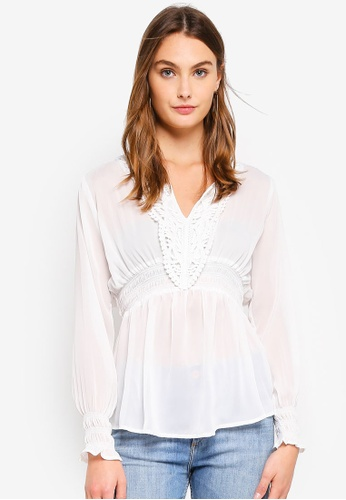Brave Soul white Long Sleeve Top With Embroidery 5B516AA32FDB1AGS_1