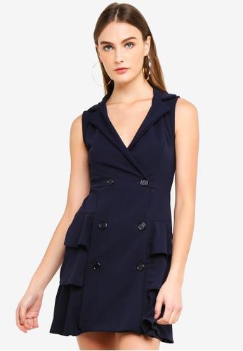 6fcac567f2 Shop MISSGUIDED Sleeveless Frill Blazer Dress Online on ZALORA Philippines