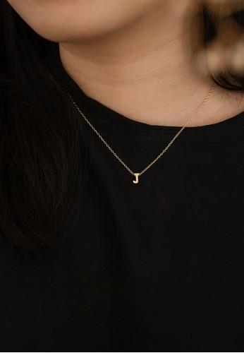AEROCULATA Aeroculata J Mini Cara Necklace 925 Sterling Silver Gold 9A9C9AC7583354GS_1