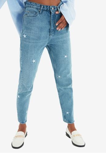 Trendyol blue Stars Detail Jeans 56F30AA9D5E711GS_1