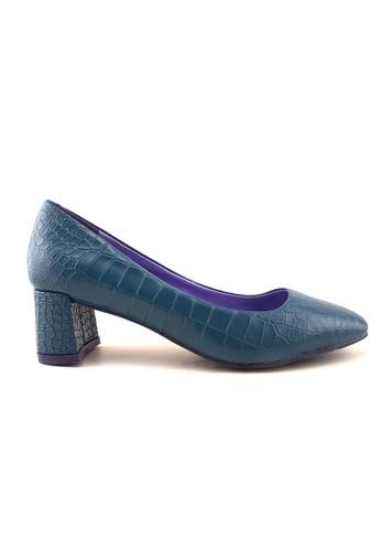 Flatss & Heelss by Rad Russel blue Coco Block Heels FL655SH78QCZSG_1