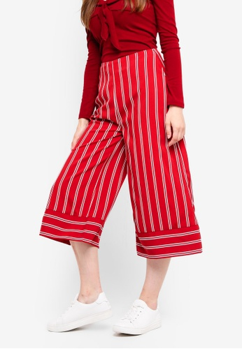 Something Borrowed red Printed Culottes F12AAAA904FD66GS_1
