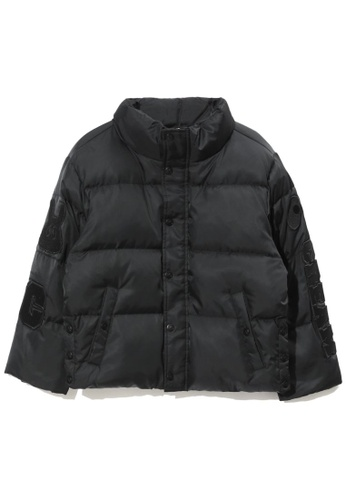 Mini cream black Quilted down jacket F7661AA674CED3GS_1