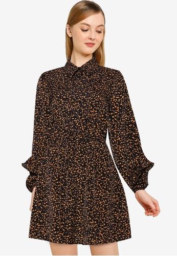 REUX black Rixo Mini Dress 04CB3AA720A67DGS_1